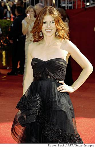 2008Debra Messing in Black Dress / Emmy Awards 2008